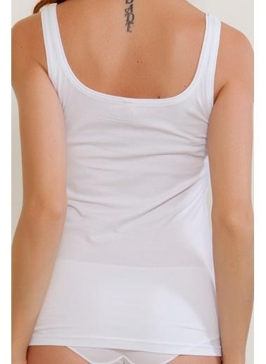 Hays Basic Kadın Cotton Kalın Askılı Atlet Beyaz